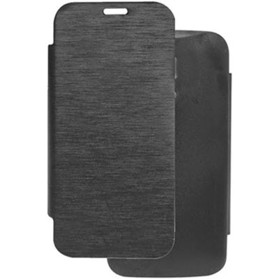 Dcoll Matte Leather Flip Cover For Xolo A800  Black  available at Paytm for Rs.259