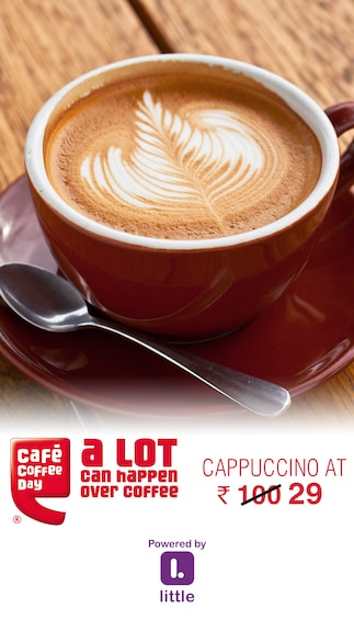 Cafe Coffee Day : Cappuccino at Rs.29