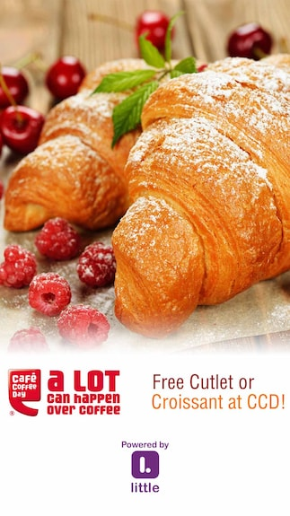 CCD ( Cafe Coffee Day ) : Free Cutlet or Croissant at CCD!