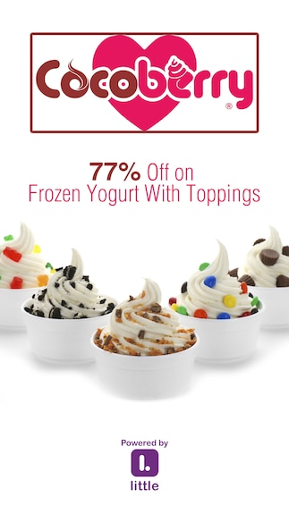 Cocoberry : 77% Off on Frozen Yogurt With Toppings