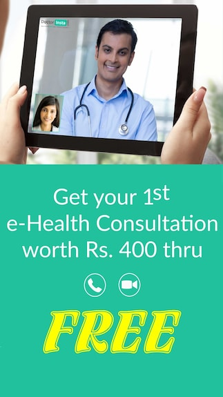 Get your 1st E-Health Consultation worth Rs. 400 free