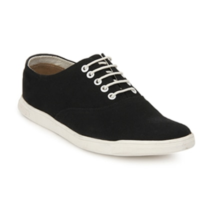 Knotty Derby Black Casual Shoes