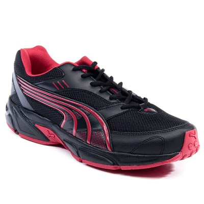 Puma Black And Red Synthetic Leather Pluto DP Sport Shoes