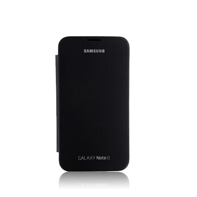 Garmor Flip Cover For Samsung Galaxy Note II N7100 (Black)