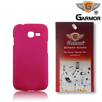 Garmor Plastic Back Cover For Samsung Galaxy Star Pro S7262 (Pink) With Screen Guard