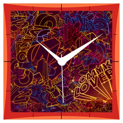 Shopkeeda 3D Cmyk Lovers Wall Clock