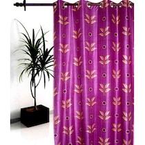 Sai Arpan Purple Leaf Door Curtain