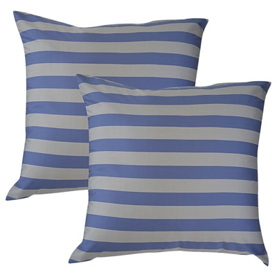 Home Kouture Stripetease With Light Purple And Silver Set Of 2 Cushion Covers