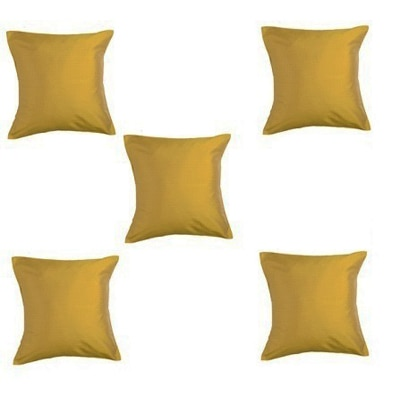 Purple Oyster Trendy Cushion Cover Yellow Set Of 5