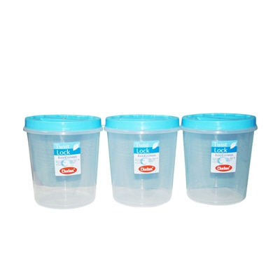 Chetan 3 Pc Set (10 Ltr) Twist Lock Kitchen Storage Container