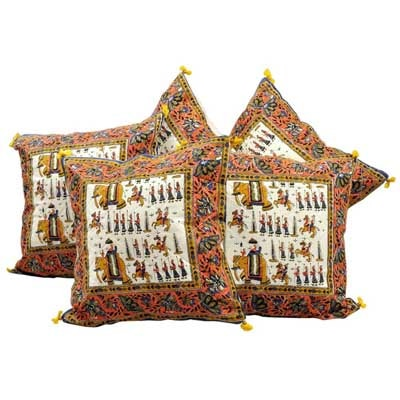 Little India Sanganeri Handblock Print Trendy Cushion Cover Set