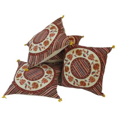 Little India Traditional Floral Print Cotton Cushion Cover Set