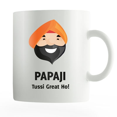 Posterguy Happy Fathers Day Gift Coffee Ceramic Mug (Punjabi Papaji Tussi Great Ho