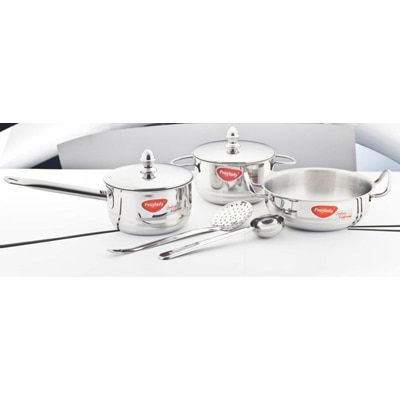 Praylady 7 Pcs Cookware Set 3 Ply Base