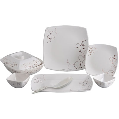 Servewell25 Pc Sq Dinner Set Classic Leaves