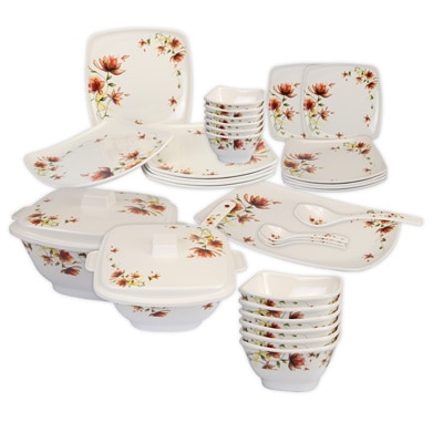 Cello Hestia Melamine Dinner Set (32 Pcs) - Brown Paradise