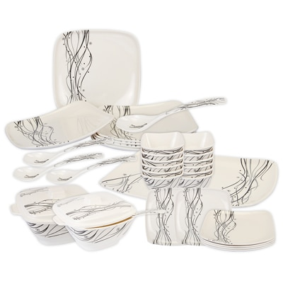Cello Hestia Melamine Dinner Set (32 Pcs) - Retro