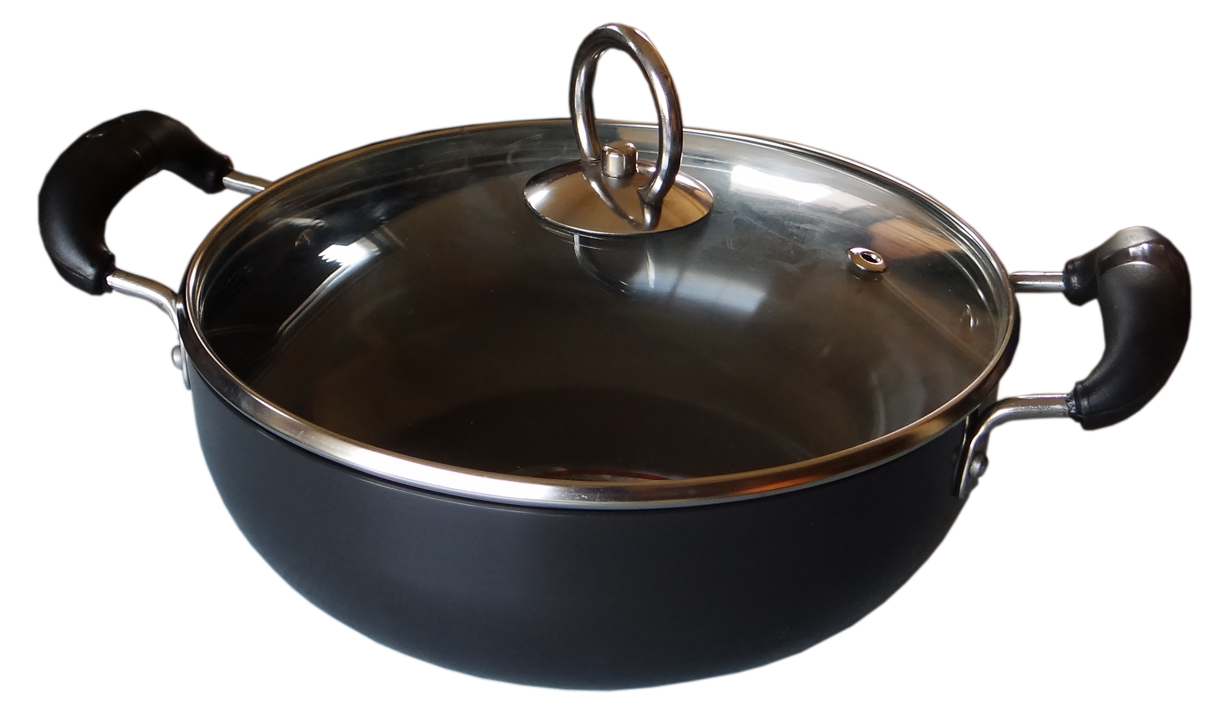 Metallino Fusion Nonstick Deep Kadai Glass Lid 2.5L