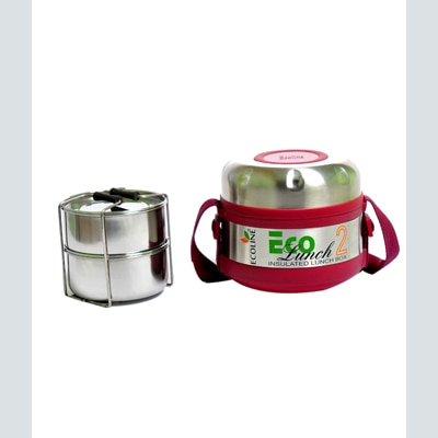 Ecoline 2 Stainless Steel Containers Insulated Eco Lunch Box