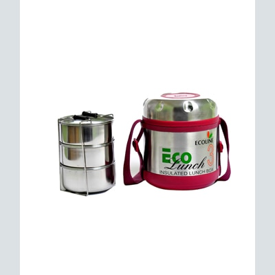 Ecoline 3 Stainless Steel Containers Insulated Eco Lunch Box