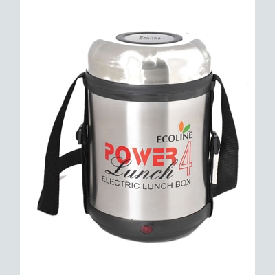 Ecoline 4 Stainless Steel Containers Electric Lunch Box