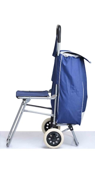 Unique Dealz Multi-Purpose Trolley Bag with Foldable Chair