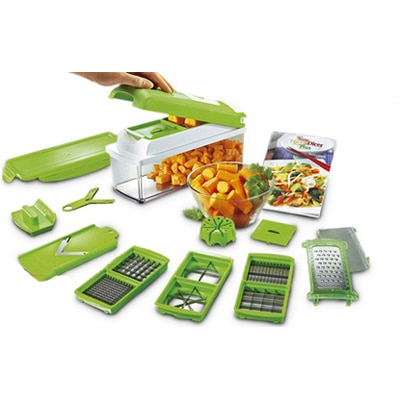 Real Shopee Nicer Dicer Plus Multi Chopper Vegetable Cutter Fruit Slicer Peeler
