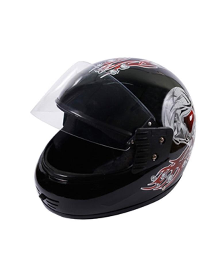 Autofurnish - DNG Max Black Full Face Helmet Red Graphics