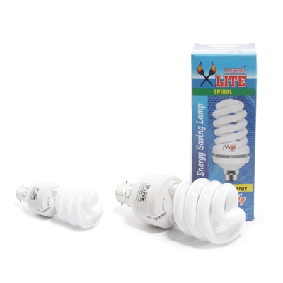 32 Watt Spiral Shaped 80% Energy Saver CFL (Set Of 2) With 6 Months Warranty.