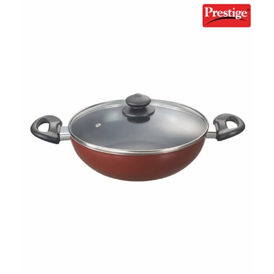Prestige Omega Deluxe Cookware Kadai 240 Mm With Lid