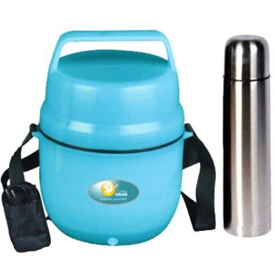Electric Lunch Box With Free Flask