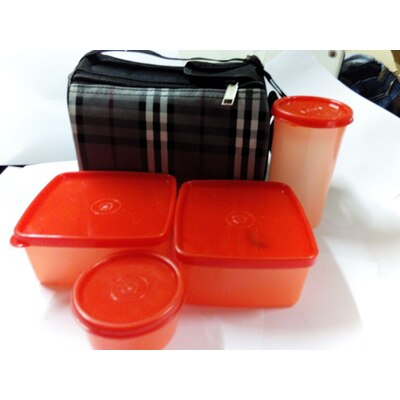 Topware Lunch Box With Food Grade Containers And Insulated Bag (4 Pcs)