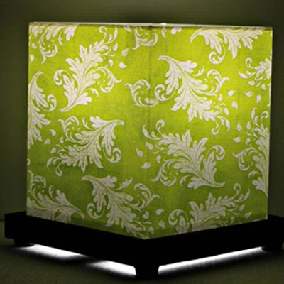 9 Gifts Ethnic White And Green Table Lamp
