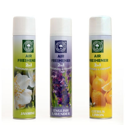 Aromatree 2 In 1 Air Freshener (Pack Of 3 Citrus Lemon-English Lavender-Jasmine) - 300 Ml Each