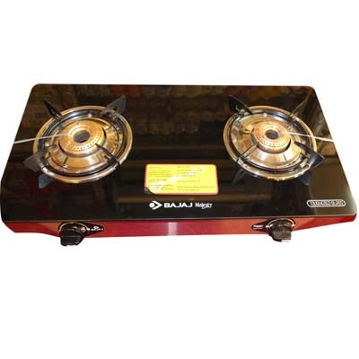 Bajaj Glass Gas Cooktop With Two Burner