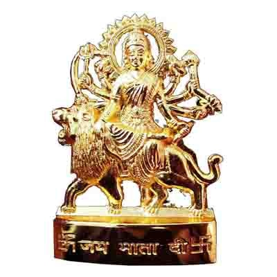 Goldcave Gold Plated Durga Idol