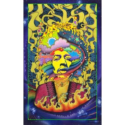 Hysteria Jimi Hendrix Poster
