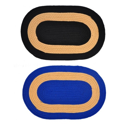 JARS Collections Set Of 2 Attractive Oval Shaped Door Mat - 19603536