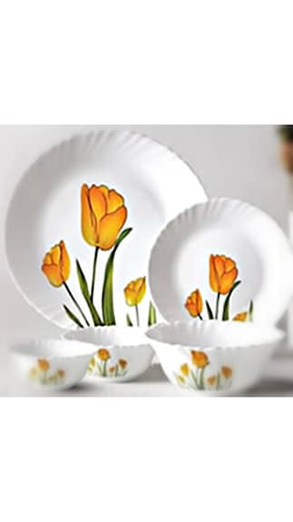 LaOpala Diva Tulip Passion Dinner Set - 19 Pcs