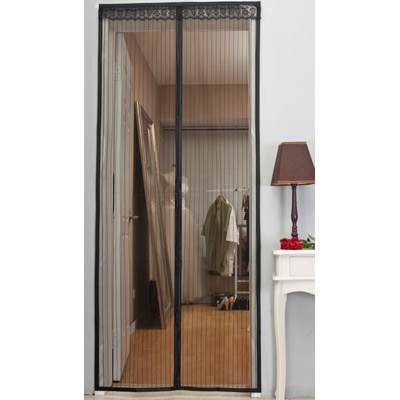 Meded New Improved Magic Magnetic Door Mesh Curtain