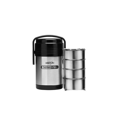 Milton Thermosteel Hot Meal 4 Tiffin