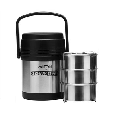 Milton Thermosteel Hot Meal 3 Tiffin