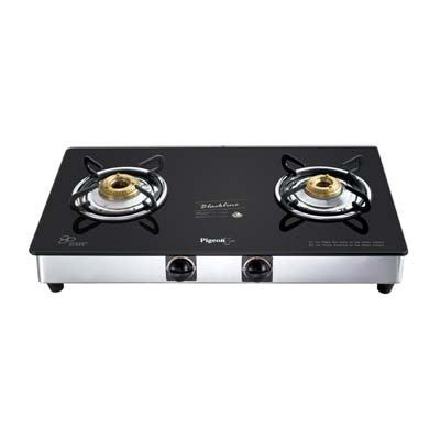 Pigeon 2 Burner Glass Top Stove - Favorite