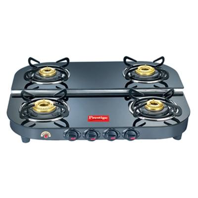 Prestige 4 Burner Gas Stove - Black - 5689937