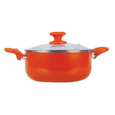 Prestige Creme Ceramic Cookware Casserole - 240 Mm With Glass Lid