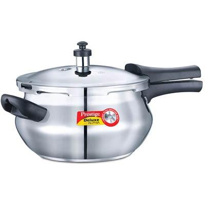 Prestige Deluxe AlpHard Andoized Stainless Steel Junior Handi Cooker 4.4 Litre