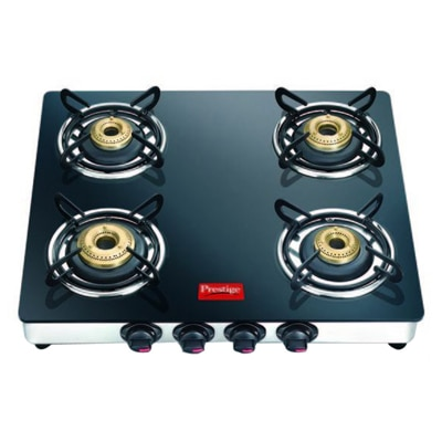 Prestige Marvel Stainless Steel 4 Burner Glass Top Gas Stove