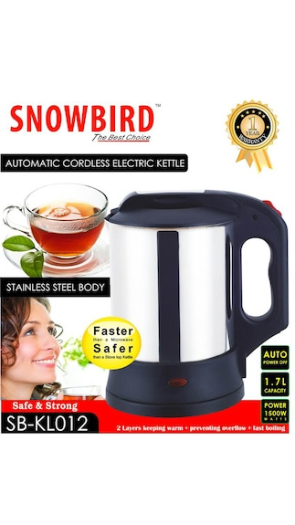 Snowbird SB-KL012 1.7 L Electric Kettle @399( 90% saving) MRP 3999 SHIPPING 50