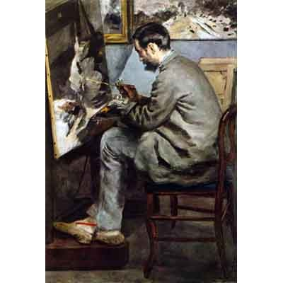 The Museum Outlet The Painter In The Studio Of Bazille By Renoir - Museum Canvas Print