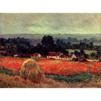 The Museum Outlet The Poppy Blumenfeld (The Barn) By Monet - Museum Canvas Print